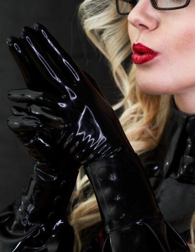 black gloves domme