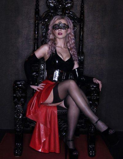 dominatrix on throne