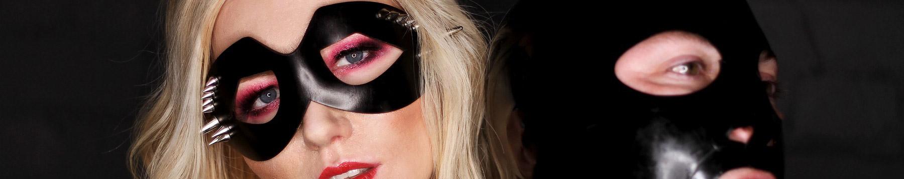 London Mistress Wildfire wearing intricate  mask