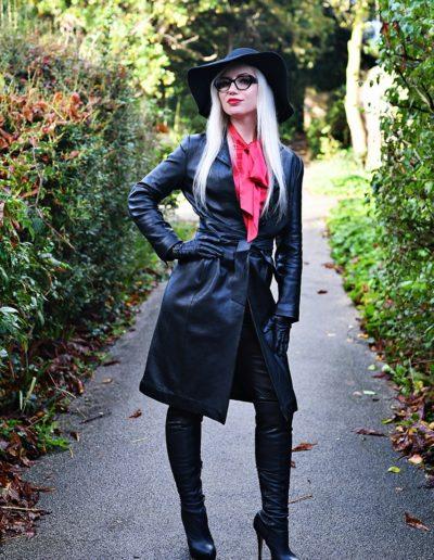 blonde leather dominatrix